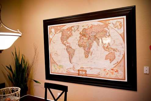 map on Shawni's wall