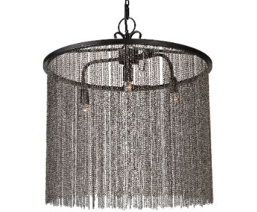 Hanging Chain Link Chandelier