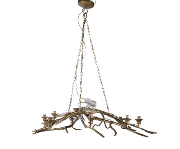 Gold Branch Chandelier Medium