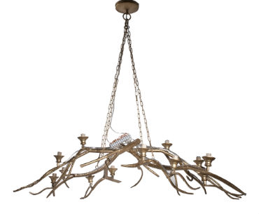 gold branch chandelier large donnyosmondhome. Black Bedroom Furniture Sets. Home Design Ideas