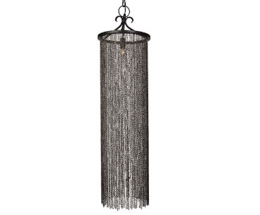 Long Hanging Chain Link Chandelier