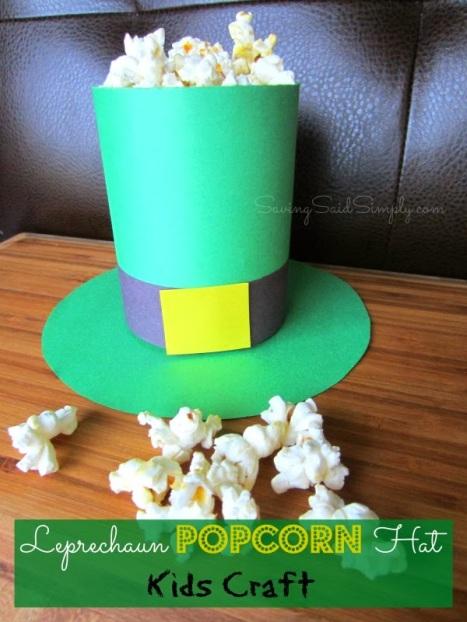 leprechaun-popcorn-hat-kids-craft