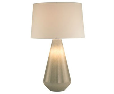 Grey Seeded Glass Lamp