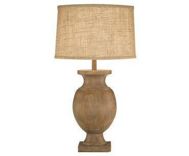 Wood Urn Lamp