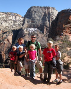 Loosli family at Kolob