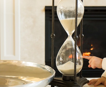 Hour Glass in Debbie Osmond's Home
