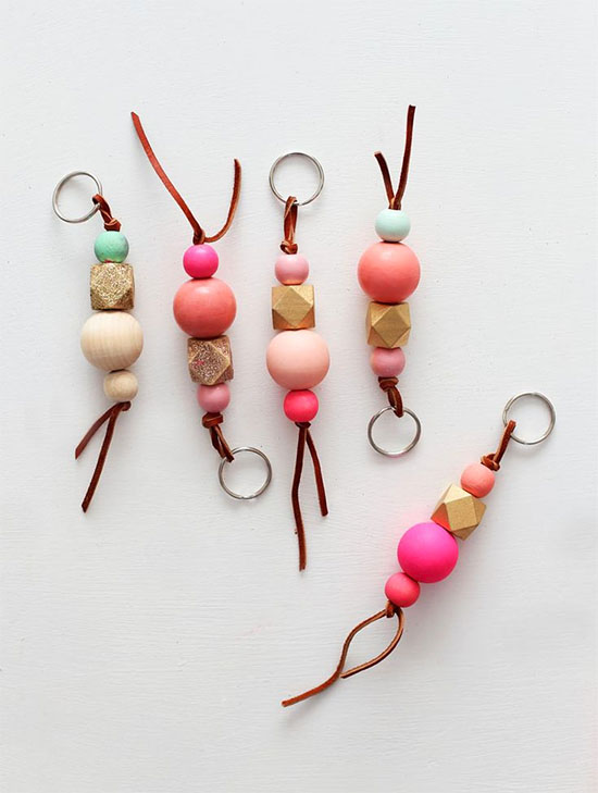 wood-bead-keychains