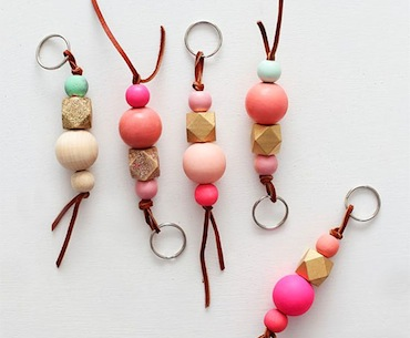 DIY: Wood Bead Key Chains
